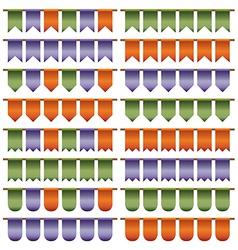 Green purple orange bunting vector