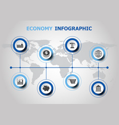 Infographic design with economy icons vector