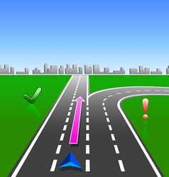 Map navigator city streets gps with signs vector
