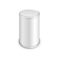 metal tin can canned food vector image