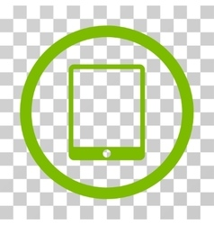 Mobile tablet rounded icon vector