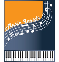 music inside color vector image vector image