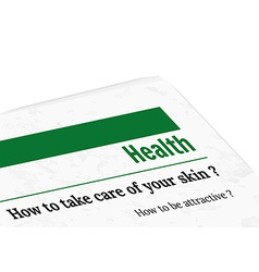 Newspaper - health vector