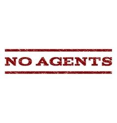No agents watermark stamp vector