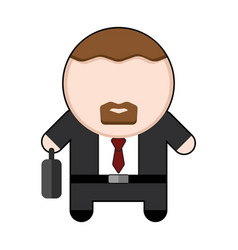 Profession character bussinesman vector