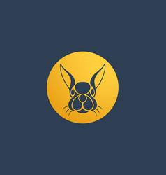 Rabbit logo icon design template vector