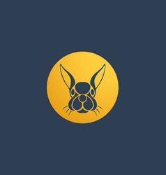 rabbit logo icon design template vector image vector image