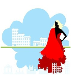 real estate girl vector image vector image