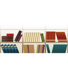 Retro bookshelf pattern vector