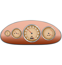 Retro car dashboard vector image vector image