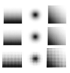 set of halftone vector image vector image