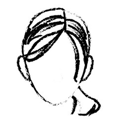 sketch head woman female face vector image