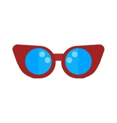 Swimming pool glasses goggles isolated vector image