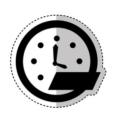 time clock wall icon vector image vector image