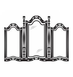 Vintage mirror frame vector
