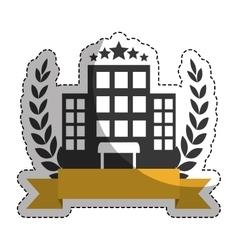 Hotel building icon vector