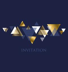Geometry motif in art deco luxury  abstract vector