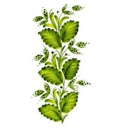 green twig vector image