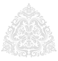 oriental abstract traingle vector image