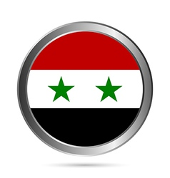 Syria flag button vector