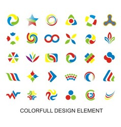 Colorfull design element vector