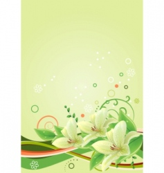frame with lilies vector image
