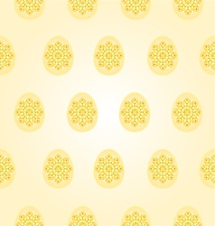Seamless texture easter eggs vintage vector