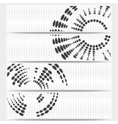 Web banners set of header layout templates circle vector image