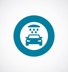 Car wash icon bold blue circle border vector