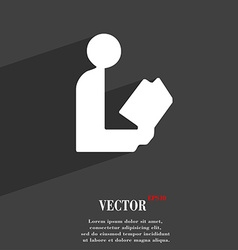 Read a book icon symbol flat modern web design vector
