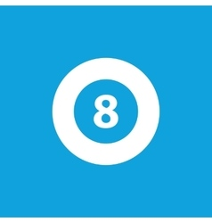Eightball icon simple vector