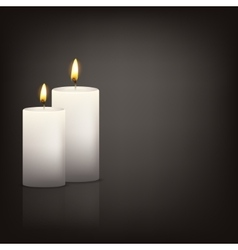 Background with two candles vector