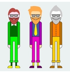 With hipster characters vector