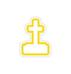 icon sticker realistic design on paper grave vector image