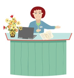 The receptionist vector