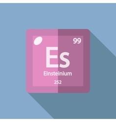 Chemical element einsteinium flat vector