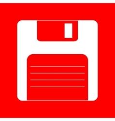 Floppy disk sign vector