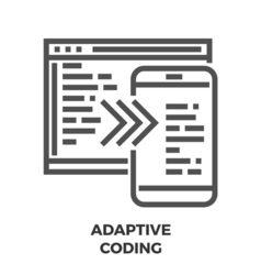 Adaptive coding line icon vector