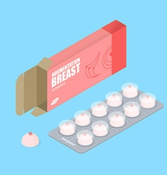Breast augmentation pills in pack Hooters tablets vector image vector image