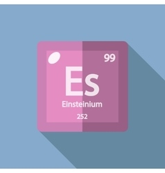 Chemical element einsteinium flat vector