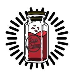 Color vintage Valentines day emblem vector image