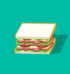 Corn beef sandwich in design perspective vector