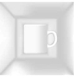 cup in the box vector image vector image