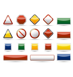 Danger traffic board icon elements vector