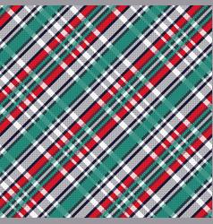 diagonal tartan seamless texture vector image vector image