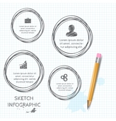 doodle sketch elements for infographic vector image