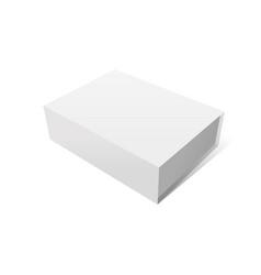 elegant white box mockup vector image