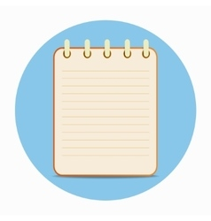 Flat template orange notepad vector image vector image