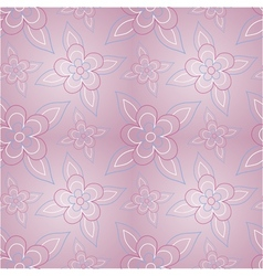 Floral pink seamless pattern vector image vector image
