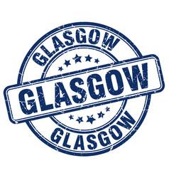 Glasgow blue grunge round vintage rubber stamp vector